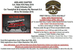 South Australia State HOG Rally 2019